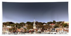 Hand Towel featuring the photograph Newport by Tom Prendergast