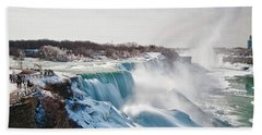 Hand Towel featuring the photograph Niagara Falls 4589 by Guy Whiteley