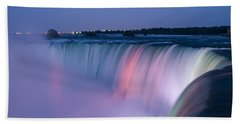Niagara Falls At Dusk Hand Towel