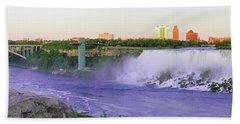 Niagara Falls At Dusk Hand Towel