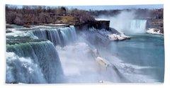 Niagara Falls Hand Towel by Elizabeth Dow
