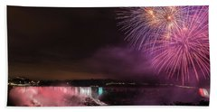 Bath Towel featuring the photograph Niagara Falls Fourth Of July by Brenda Jacobs