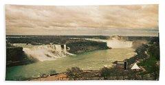 Bath Towel featuring the photograph Niagara Falls by Mary Machare