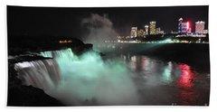 Hand Towel featuring the photograph Niagara Night Lights by Gina Savage