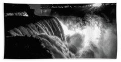 Niagara At Night Bath Towel
