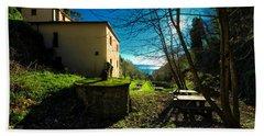 Bath Towel featuring the photograph Niasca Hermitage I Portofino Park Passeggiate A Levante by Enrico Pelos