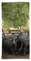 Nick Loading Cattle Hand Towel