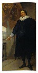 Nicolaes Van Der Borght, Merchant Of Antwerp Hand Towel