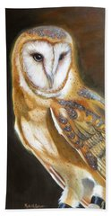 Hand Towel featuring the painting Night Angel by Phyllis Beiser