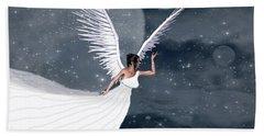 Night Angel Bath Towel by Rosalie Scanlon