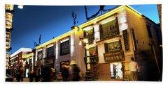 Night At Jokhang Temple Lhasa Kora Tibet Artmif.lv Hand Towel