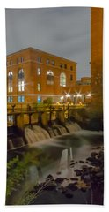 Night At The River Vertical Bath Towel