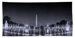 Bath Towel featuring the photograph Night At Washington Dc by Rima Biswas
