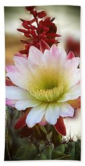 Bath Towel featuring the photograph Night-blooming Cereus 2 by Marilyn Smith
