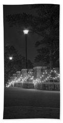 Night Bridge In December Bath Towel