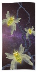 Night Butterflies Bath Towel