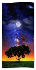 Night Colors Hand Towel by Justin Kelefas