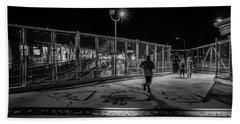 Night Commute  Hand Towel by Jeffrey Friedkin
