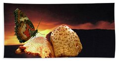 Hand Towel featuring the photograph Night Fall by Donna Brown