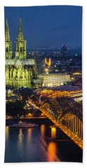 Night Falls Upon Cologne 1 Bath Towel