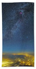Night Flight Bath Towel