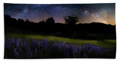 Bath Towel featuring the photograph Night Flowers by Bill Wakeley
