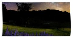 Bath Towel featuring the photograph Night Flowers Square by Bill Wakeley