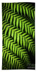Night Forest Frond Hand Towel