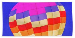 Night Glow At The Hot Air Balloon Festival Hand Towel