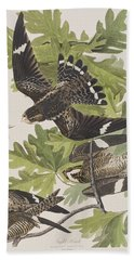 Night Hawk Hand Towel by John James Audubon
