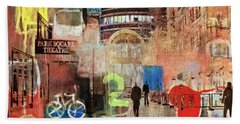 Bath Towel featuring the photograph Night In The City by Susan Stone