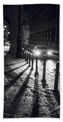 Hand Towel featuring the photograph Night Lights. Prague by Jenny Rainbow