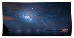 Hand Towel featuring the photograph Night Of The Milky Way by Mark Andrew Thomas
