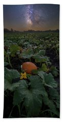 Bath Towel featuring the photograph Night Of The Pumpkin by Aaron J Groen