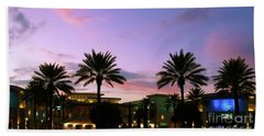 Night On The Town Palm Beach Florida Photo 515 Bath Towel