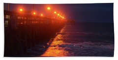 Night Pier Hand Towel by Gordon Mooneyhan