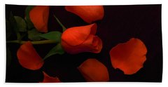 Night Rose 2 Hand Towel