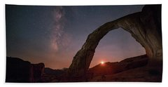 Night Sky At Corona Ach Hand Towel