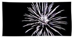 Night Sky Fireworks Bath Towel by Suzanne Luft