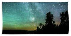 Night Sky Hand Towel by Rose-Marie Karlsen