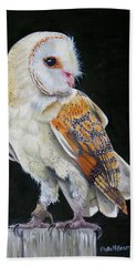 Hand Towel featuring the painting Night Watch by Phyllis Beiser