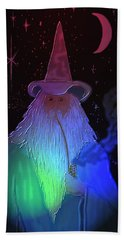 Hand Towel featuring the painting Night Wizard by Kevin Caudill
