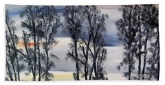 Hand Towel featuring the painting Nightfall Approaching by Marilyn  McNish
