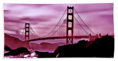 Nightfall At The Golden Gate Bath Towel