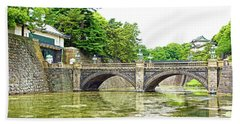Nijubashi Bridge Bath Towel