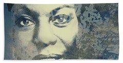 Nina Simone - Here Comes The Sun  Hand Towel