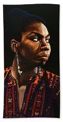 Nina Simone Painting Bath Towel