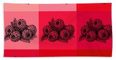 Nine Shades Of Raspberries Bath Towel