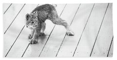 Ninja Lynx Kitty Bw Hand Towel