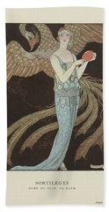No. 9  Sortileges Robe Du Soir, De Beer, George Barbier, 1922 Bath Towel